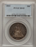 Seated Half Dollars: , 1841 50C XF45 PCGS. PCGS Population (8/49). NGC Census: (4/47).Mintage: 310,000. Numismedia Wsl. Price for problem free NG...