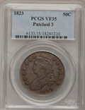 Bust Half Dollars: , 1823 50C Patched 3 VF35 PCGS. PCGS Population (4/52). NGC Census:(3/34). Numismedia Wsl. Price for problem free NGC/PCGS ...