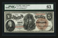 Large Size:Legal Tender Notes, Fr. 72 $5 1880 Legal Tender PMG Choice Uncirculated 63.. ...