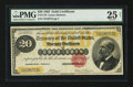 Large Size:Gold Certificates, Fr. 1178 $20 1882 Gold Certificate PMG Very Fine 25 Net.. ...