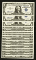 Error Notes:Ink Smears, Fr. 1621 $1 1957B Silver Certificates. Sixteen Examples. ChoiceCrisp Uncirculated.. ... (Total: 16 notes)