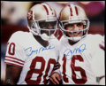 Football Collectibles:Photos, Jerry Rice and Joe Montana Multi Signed Oversized Photograph....