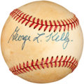 Autographs:Baseballs, 1970's George Kelly Single Signed Baseball....