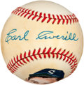 Autographs:Baseballs, Circa 1970 Earl Averill Single Signed Baseball....