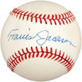 Autographs:Baseballs, 1970's Travis Jackson Single Signed Baseball....
