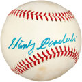 Autographs:Baseballs, 1970's Stanley Coveleski Single Signed Baseball....