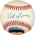 Autographs:Baseballs, Circa 1980 Ted Lyons Single Signed Portrait Baseball....