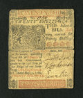 Colonial Notes:Delaware, Delaware May 31, 1760 20s Choice Very Fine....