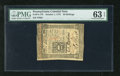 Colonial Notes:Pennsylvania, Pennsylvania October 1, 1773 50s PMG Choice Uncirculated 63EPQ. Awell margined and crisp example of this columned issue tha...