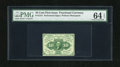 Fractional Currency:First Issue, Fr. 1241 10c First Issue PMG Choice Uncirculated 64EPQ. Fresh andbright paper has combined with radiant ink colors to produ...
