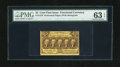 Fractional Currency:First Issue, Fr. 1279 25c First Issue PMG Choice Uncirculated 63EPQ. Printed on bright yellow paper this is a boldly printed example of t...