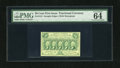 Fractional Currency:First Issue, Fr. 1312 50c First Issue PMG Choice Uncirculated 64 EPQ. This is anear gem example of this straight edge type that PMG proc...