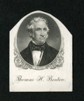 Miscellaneous:Other, Engraved Portrait of Senator Thomas M. Benton. This BEP portraitcard has been cut down. The portrait of Benton was used on ...