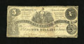 Confederate Notes:1861 Issues, T36 $5 1861. Some bottom edge wear is noticed. Very Good....
