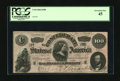 Confederate Notes:1864 Issues, T65 $100 1864. Light handling in service to the Lost Cause is found on this C-note. PCGS Extremely Fine 45....
