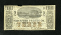 Obsoletes By State:Louisiana, New Orleans, LA- Red River Packet Co. $3 Dec. 1, 1861. This is a bright $3 for the grade with a small notch missing from the...