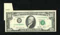 Error Notes:Foldovers, Fr. 2027-G $10 1985 Federal Reserve Note. Extremely Fine.. A neatfoldover reveals the sheet number for this $10 that was in...