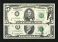 Error Notes:Ink Smears, Two Ink Smears on Face.. Fr. 1977-I $5 1981A Federal Reserve Note.XF. Fr. 2023-I $10 1977 Federal Reserve Note. Choic... (Total: 2notes)