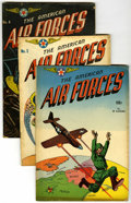 """Golden Age (1938-1955):War, The American Air Forces #1-4 and 6 Group - Davis Crippen (""""D"""" Copy)pedigree (Wm. H. Wise & Co., 1944-52).... (Total: 5)"""