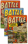 "Golden Age (1938-1955):War, Battle Group - Davis Crippen (""D"" Copy) pedigree (Marvel, 1951-52).... (Total: 9)"
