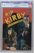 "Golden Age (1938-1955):Crime, Feature Books #51 Rip Kirby - Davis Crippen (""D"" Copy) pedigree (David McKay, 1948) CGC VF- 7.5 Off-white pages...."