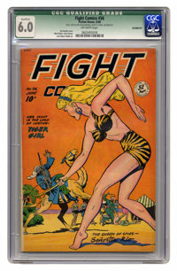 Fight Comics #56 (Fiction House, 1948) CGC Qualified FN 6.0 Off-white pages. Joe Doolin cover. Matt Baker, Jack Kamen, a...