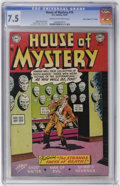 "Golden Age (1938-1955):Horror, House of Mystery #19 Davis Crippen (""D"" Copy) pedigree (DC, 1953)CGC VF- 7.5 Cream to off-white pages...."