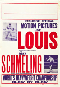 "Joe Louis Vs. Max Schmeling (Empire City,1938). One Sheet (28"" X 40.5"")"