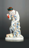 Ceramics & Porcelain, Russian, A RUSSIAN PORCELAIN FIGURE: THE GIRL WITH THE BROKEN JUG .Lomonosov Porcelain Factory, St. Petersburg, Russia, 20t...