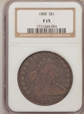 Early Dollars: , 1800 $1 Fine 15 NGC. NGC Census: (29/709). PCGS Population(64/798). Mintage: 220,920. Numismedia Wsl. Price for problem fr...