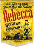"""Movie Posters:Hitchcock, Rebecca (United Artists, 1940). Satin Banner (38"""" X 52"""").. ..."""