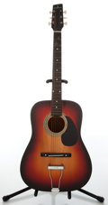 Musical Instruments:Acoustic Guitars, 1960s Supersound by Burns Three-Tone Sunburst Acoustic Guitar....