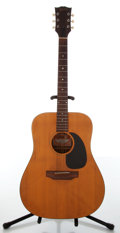 Musical Instruments:Acoustic Guitars, 1970s Gibson J-40 Natural Acoustic Guitar, #690751....