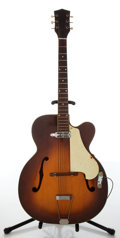 Musical Instruments:Acoustic Guitars, 1950s Kay N-2 Sunburst Archtop Guitar....