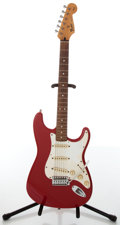 Musical Instruments:Electric Guitars, 1990s Fender Stratocaster Candy Apple Red Electric Guitar,#MN558390....