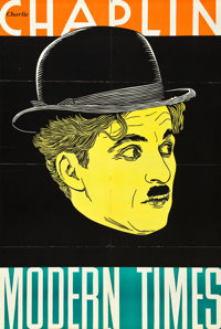 "Modern Times (United Artists, 1936). Leader Press One Sheet (27.5"" X 40.5"")"