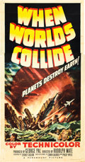 "Movie Posters:Science Fiction, When Worlds Collide (Paramount, 1951). Three Sheet (41"" X 81"")....."