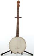 Musical Instruments:Banjos, Mandolins, & Ukes, Circa 1930 Unknown Maker Nickel/ Wood 5-String Banjo, #11343....