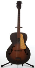 Musical Instruments:Acoustic Guitars, Circa 1950 Kay or Harmony Sunburst Archtop Acoustic Guitar....