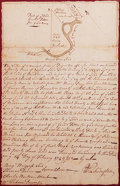 "Autographs:U.S. Presidents, George Washington: Autograph Document Signed ""G Washington,"" with a William Fairfax Autograph Letter Signed and Ad... (Total: 2 Items)"