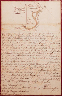 "George Washington: Autograph Document Signed ""G Washington,"" with a William Fairfax Autograp"