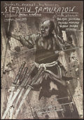 "Movie Posters:Foreign, The Seven Samurai (Toho, R-1987). Polish B1(26.5"" X 38""). Foreign.. ..."
