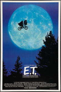 "E.T. The Extra-Terrestrial (Universal, 1982). One Sheet (27"" X 40.5""). Bicycle Style. Science Fiction"