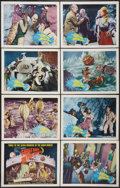 """Movie Posters:Science Fiction, First Men in the Moon (Columbia, 1964). Lobby Card Set of 8 (11"""" X14""""). Science Fiction.. ... (Total: 8 Items)"""