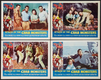 """Attack of the Crab Monsters (Allied Artists, 1957). Lobby Card Set of 4 (11"""" X 14""""). Science Fiction. ... (Tot..."""