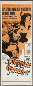 """Movie Posters:Horror, The Playgirls and the Vampire (Fanfare, 1963). Insert (14"""" X 36""""). Horror.. ..."""