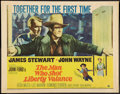 "Movie Posters:Western, The Man Who Shot Liberty Valance (Paramount, 1962). Half Sheet (22"" X 28""). Western.. ..."