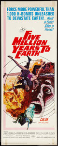 "Movie Posters:Science Fiction, Five Million Years to Earth (20th Century Fox, 1967). Insert (14"" X36""). Science Fiction.. ..."