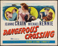 "Movie Posters:Mystery, Dangerous Crossing (20th Century Fox, 1953). Half Sheet (22"" X 28""). Mystery.. ..."