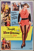 "Movie Posters:Sexploitation, Naughty New Orleans (Rebel Pictures, 1954). Poster (39.5"" X 59.5"").Sexploitation.. ..."